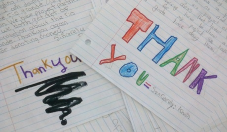 Donors Choose thank you letters from kids
