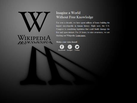 Wikipedia Anti-SOPA Blackout Design