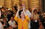 Wikimania Haifa closing ceremonies (with Jan-Bart de Vreede)